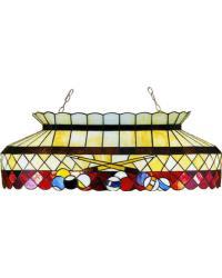 Burgundy Billiard Oblong Pendant by
