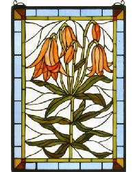 Trumpet Lily Stained Glass Window by
