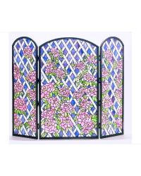 Rose Trellis Folding Fireplace Screen by