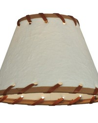 6.25in W X 4.25in H Parchment  Rawhide Shade 37252 by