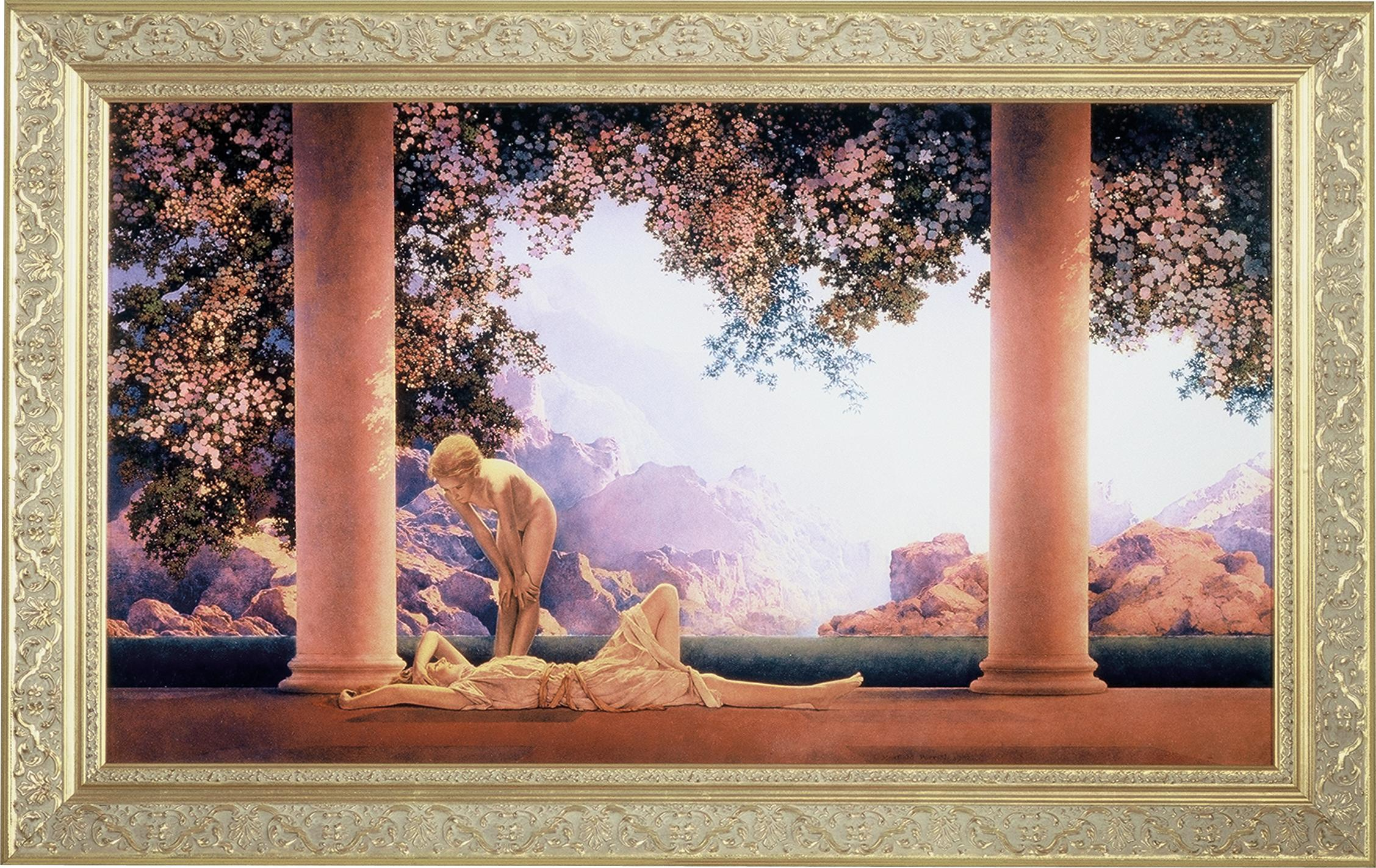 Maxfield Parrish Daybreak Framed Art Meyda Tiffany