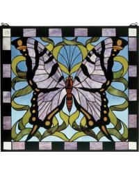 Butterfly Stained Glass Window by
