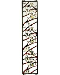 Magnolia Stained Glass Window by