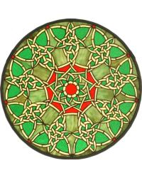 Knotwork Trance Medallion Stained Glass Window by