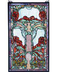 Nouveau Lily Stained Glass Window 65711 by