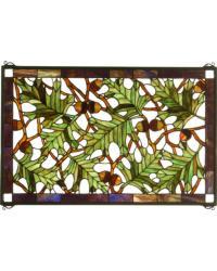Acorn Oak Leaf Stained Glass Window 66276 by