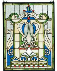 Royal Blue Windsor Stained Glass Window by