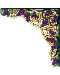 Jeweled Grape Corner Bracket 67141 by
