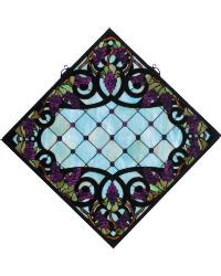 Jeweled Grape Stained Glass Window by