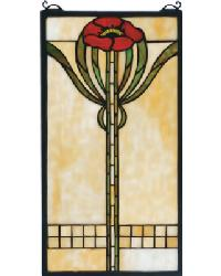 Parker Poppy Stained Glass Window by