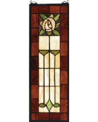 Pasadena Rose Stained Glass Window by