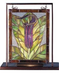 Jack-In-The-Pulpit Lighted Mini Tabletop Window by