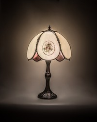 22in H Roses Hand Painted Table Lamp 68597 by