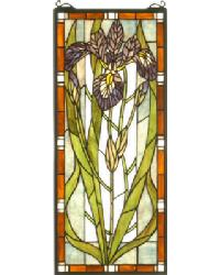 Iris Stained Glass Window by