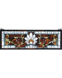 Beveled Ellsinore Transom Stained Glass Window by