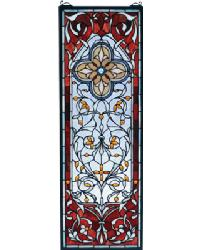 Versaille Quatrefoil Stained Glass Window by