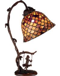 Tiffany Fishscale Accent Lamp 74046 by