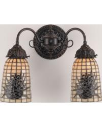 Pine Barons 2 Lt Wall Sconce 74048 by