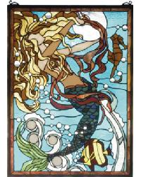 Mermaid Of The Sea Stained Glass Window by