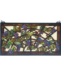 Tiffany Grape Arbor Stained Glass Window by