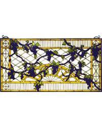 Grape Diamond Trellis Stained Glass Window 79789 by