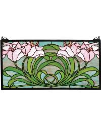 Calla Lily Stained Glass Window by