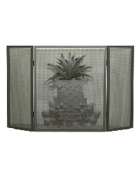 Welcome Pineapple Folding Fireplace Screen by