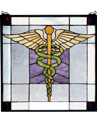 Medical Stained Glass Window by
