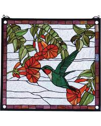Hummingbird Stained Glass Window by