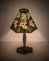 19in  High Oriental Peony Accent Lamp 81619 by
