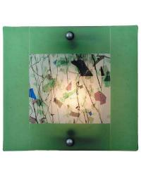 Springtime Of My Youth Fused Glass Sconce by
