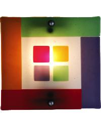 Psychedelic Baby Fused Glass Wall Sconce 82469 by