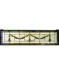 Garland Swag Stained Glass Window by
