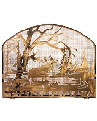 Moose Creek Fireplace Screen by