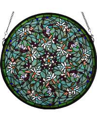 Dragonfly Swirl Medallion Window 98956 by