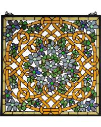 Shamrock Garden Stained Glass Window 99027 by