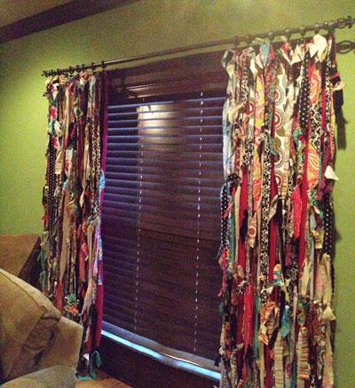 Happy Scrappy Curtains DIY
