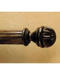Wood Blooming Ball Finial by  The Finial Company