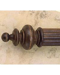 Wood Cascading Ball Finial by  The Finial Company