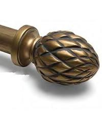 Provincial Curtain Rod Finial by
