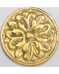Scrolling Brass Button Rosette by