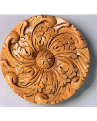 Carved Wood Rosette by  The Finial Company