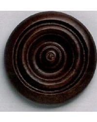 Grooved Button Wood Rosette by