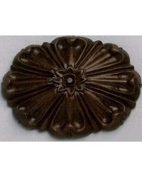 Floral Sunburst Wood Rosette by  The Finial Company