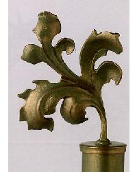 Fall Leaf Finial Pair by  The Finial Company