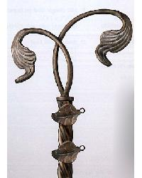 Intertwined Leaf Finial Pair by  The Finial Company