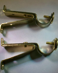 Adjustable Cafe Rod Bracket Pair by  Graber