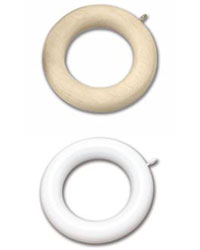 Wood Curtain Rings Pack of 7 by  Graber