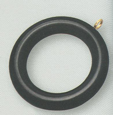 2 inch Wood Curtain Ring Set of 7 by  Graber