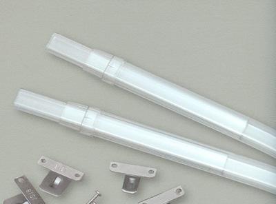 Crystal Clear Sash Curtain Rods